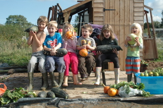 Eardisland children's allotment group